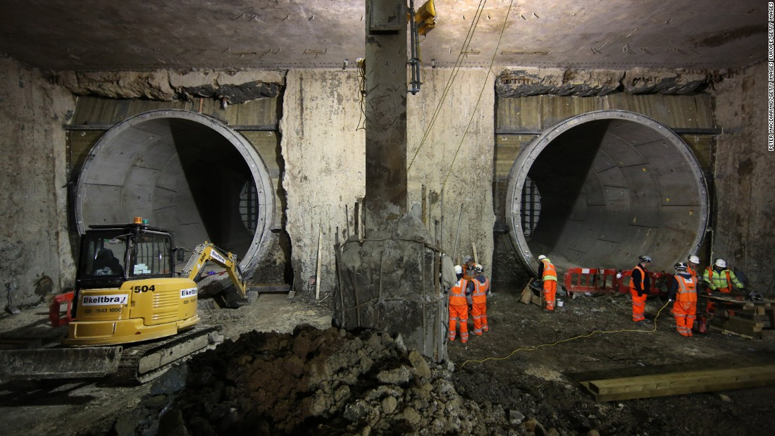 Work began on Crossrail in 2009 at Canary Wharf in East London's Docklands. It has meant significant development to some of London's most well-known stations, such as here at Paddington.