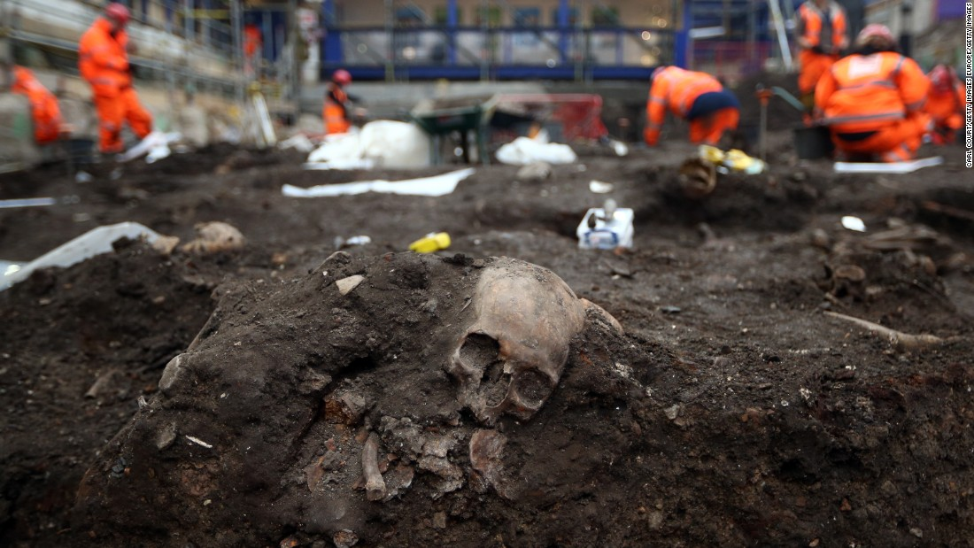 "Work on Crossrail has also led to <a href=""http://edition.cnn.com/2013/10/02/world/europe/uk-crossrail-roman-skulls/index.html"">some rather grizzly discoveries</a>. This skull was found during works at Liverpool Street Stations. It is thought to be one of more than 20,000 burials from Bedlam hospital between 1569 and 1738."