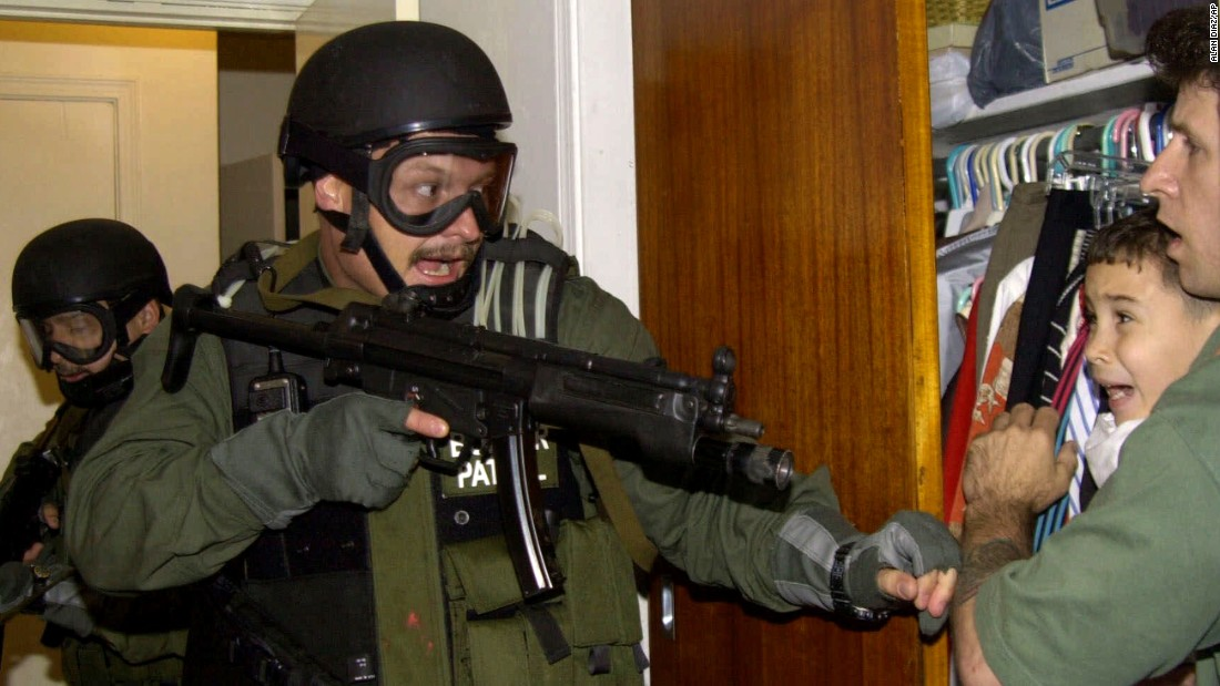 When Elian's Miami family refused to hand him over to his father in Cuba, armed federal agents stormed the home of his uncle in 2000 and seized the boy.
