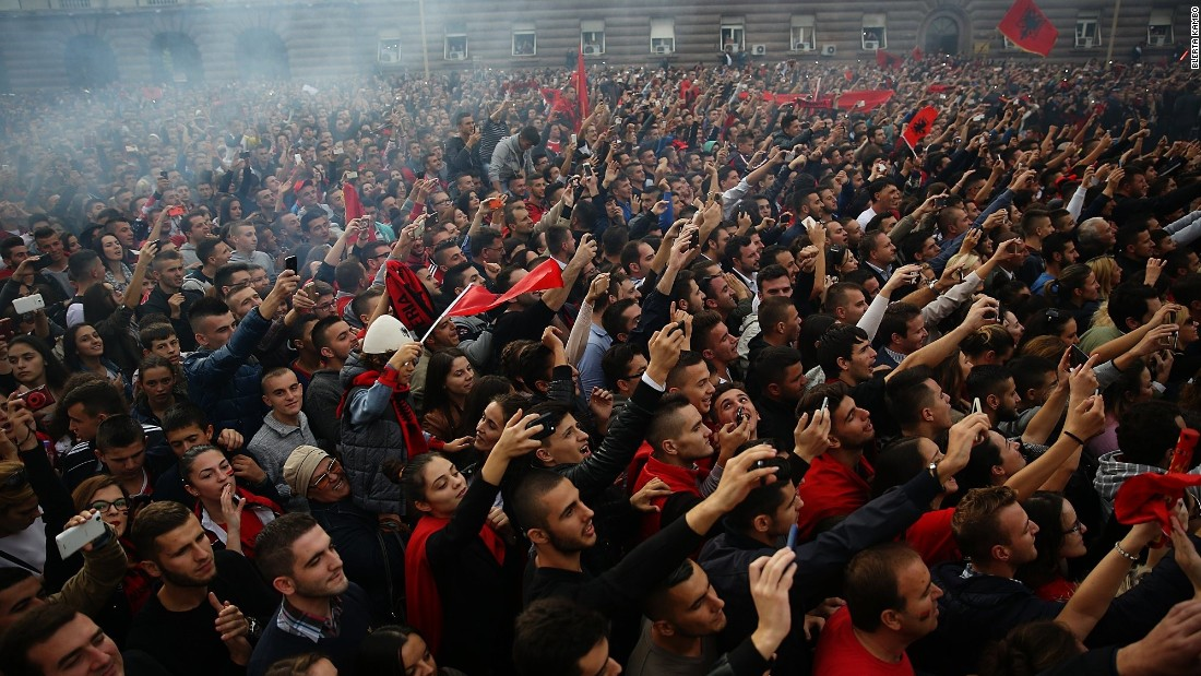 Albania had never qualified for a major football tournament but the 3-0 win over Armenia Sunday sparked wild parties across the country.