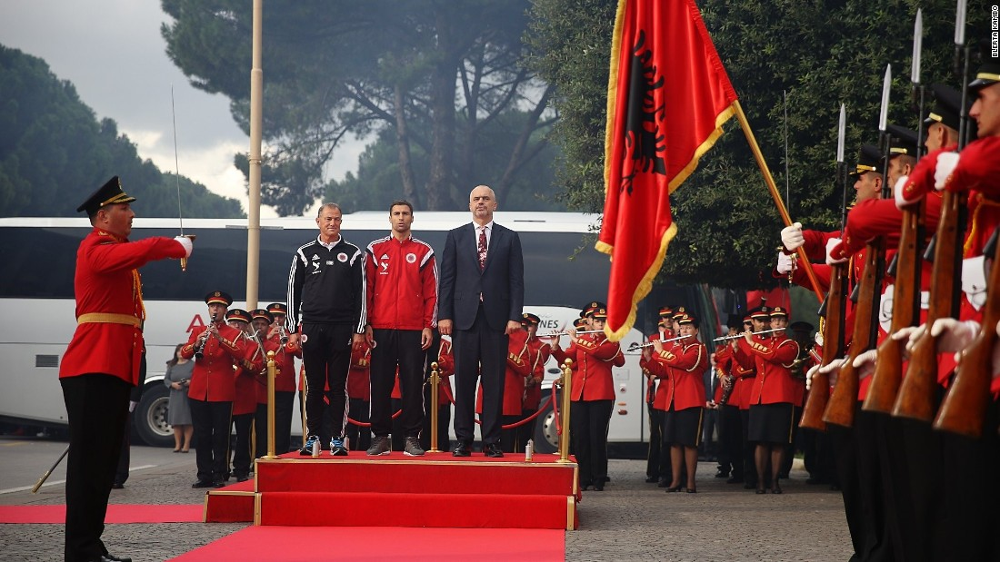 The team were honored with a ceremony at the prime minister's official residence.