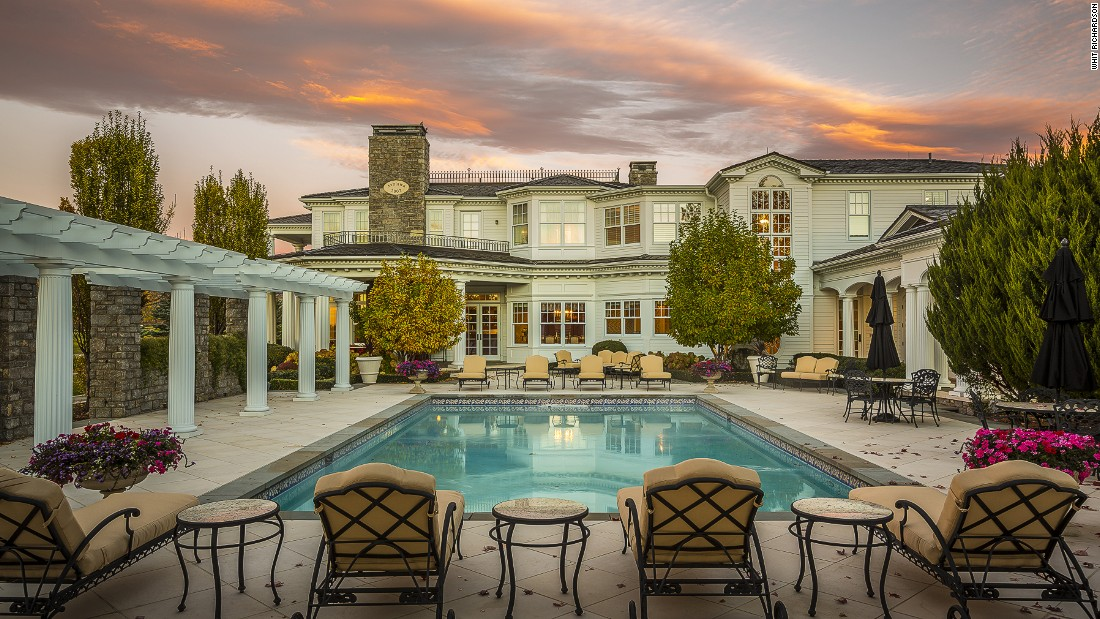 The luxurious property in Boulder, Colorado is set in 117 acres and includes this impressive outside swimming pool.