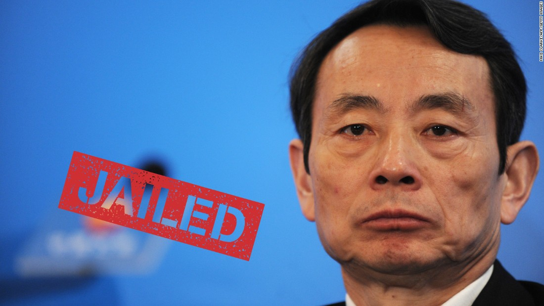 Jiang Jiemin, who once headed China's biggest oil company, was handed a 16-year jail term for bribery, abuse of power and possessing assets from unidentified sources on October 12, 2015.