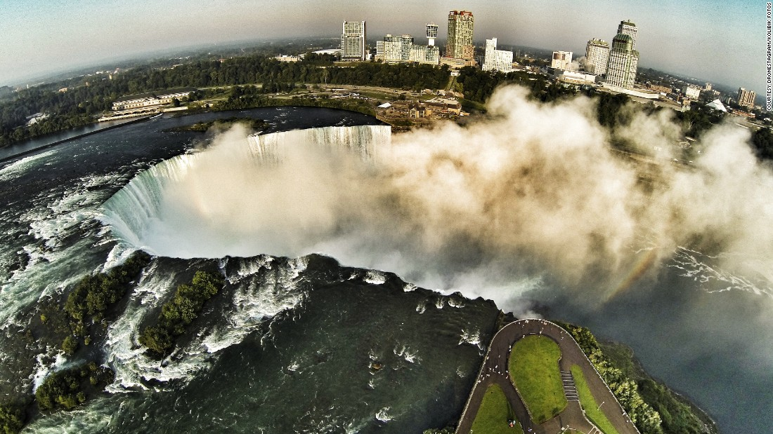 It's not often you get to see images of Niagara Falls from this angle -- that's the beauty of drone landscape photography.
