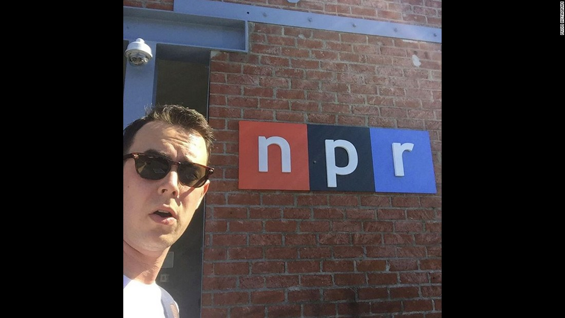 """It's nice when you can catch up with your friends,"" <a href=""https://instagram.com/p/8pWmupot3v/"" target=""_blank"">said actor Colin Hanks</a> as he visited NPR on Saturday, October 10."