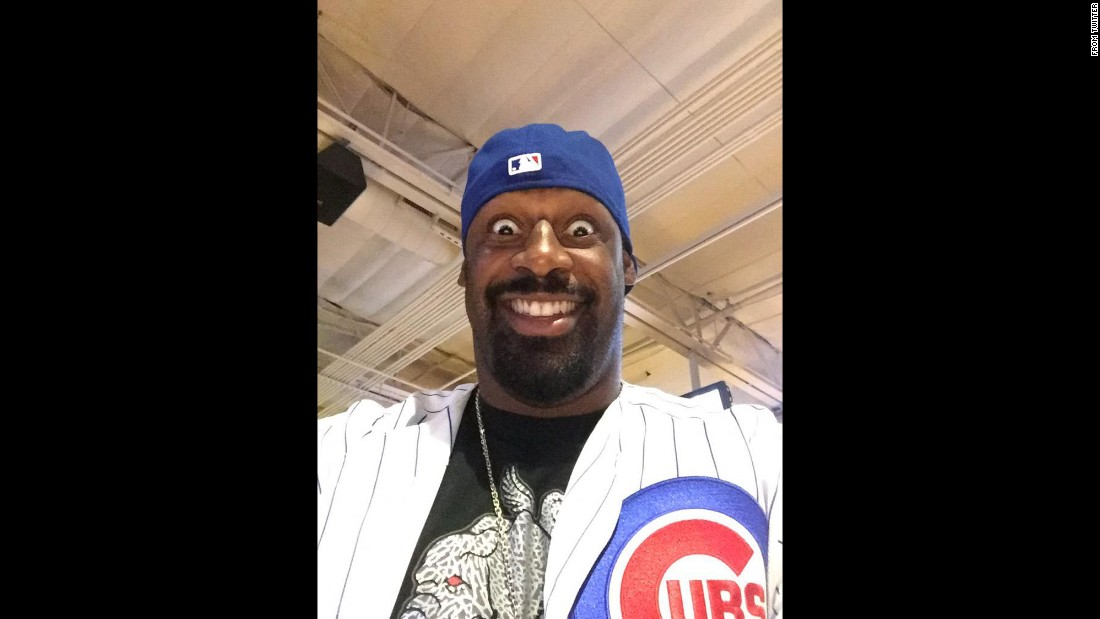 """Let's go @Cubs,"" <a href=""https://twitter.com/donovanjmcnabb/status/652565465315696640"" target=""_blank"">tweeted former football star Donovan McNabb</a> before the Chicago Cubs' playoff game on Friday, October 9."