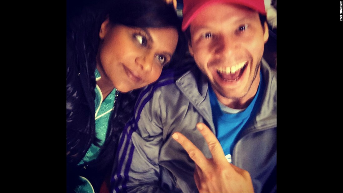 "Actress Mindy Kaling and her ""Mindy Project"" co-star Ike Barinholtz make silly faces on Wednesday, October 7. ""Beautiful cool people,"" <a href=""https://instagram.com/p/8jc84TJQ6K/"" target=""_blank"">Kaling said on Instagram.</a>"