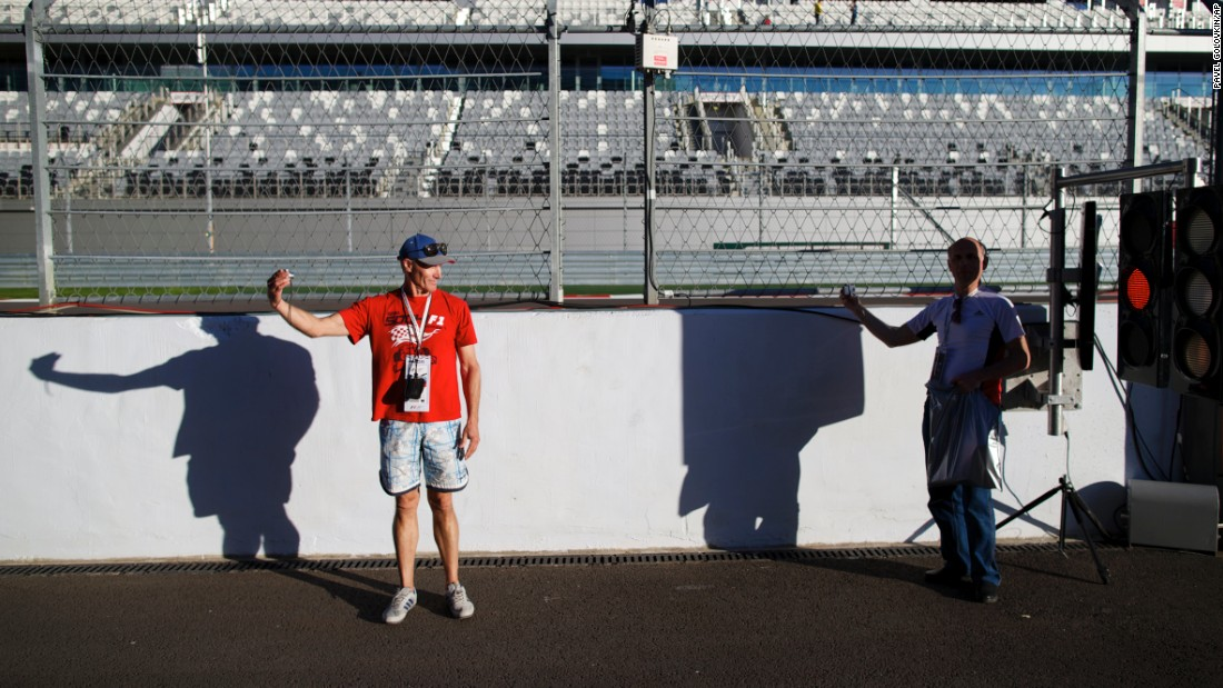 "People take selfies in pit lane as they visit a race track in Sochi, Russia, on Thursday, October 8. The track hosted a Formula One race over the weekend. <a href=""http://www.cnn.com/2015/10/07/living/gallery/look-at-me-selfies-1007/index.html"" target=""_blank"">See 26 selfies from last week</a>"