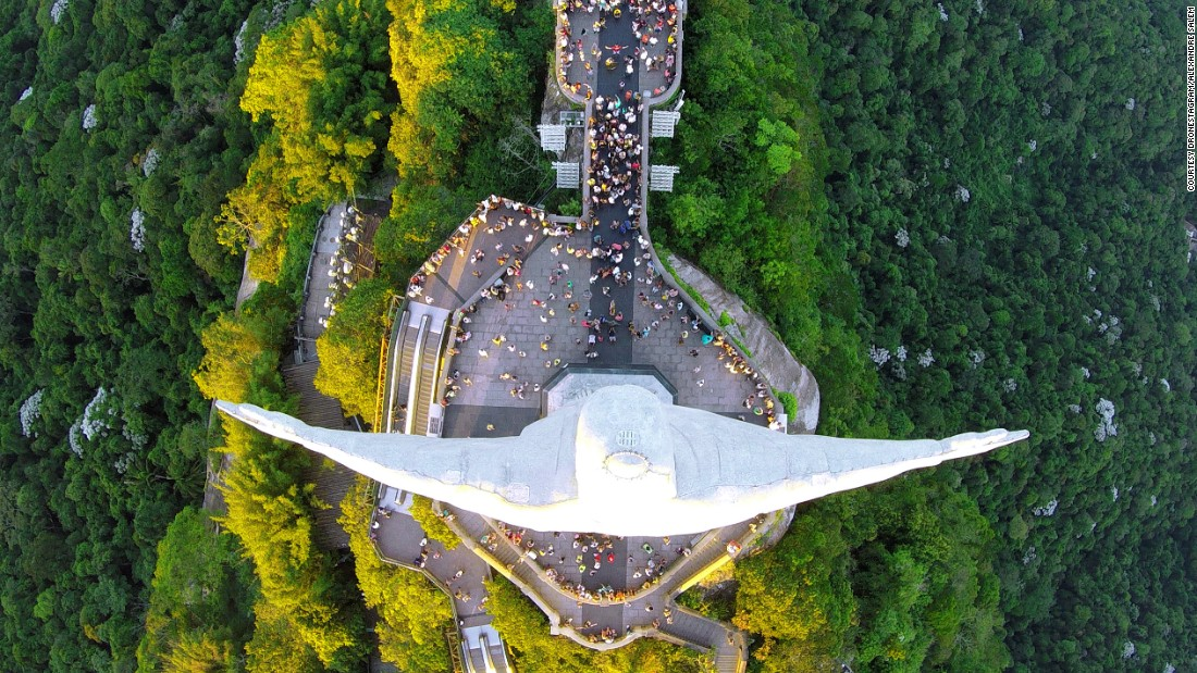 As the name suggests, Dronestagram is the drone community's answer to Instagram. Over 30,000 users have registered so far, with the largest number hailing from the U.S., followed closely by France and the UK. This spectacular photo, taken by Alexandre Salem, is a bird's-eye view of Christ the Redeemer looking down on visitors in Rio de Janeiro.