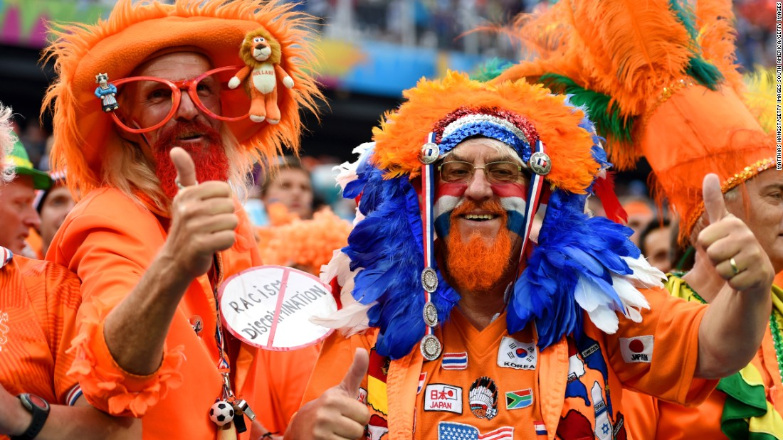 The Dutch supporters are some of the best and most colorful in international football -- but they won't be at next year's European Championship finals.