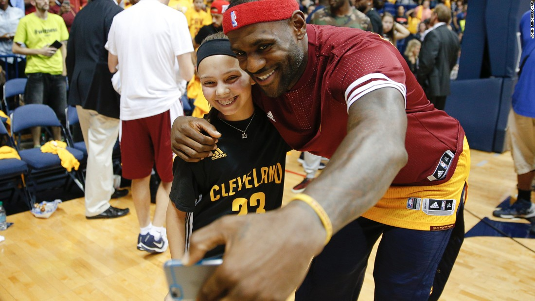 Cleveland Cavaliers forward LeBron James will be all smiles if his team manages to stay healthy come playoff time.