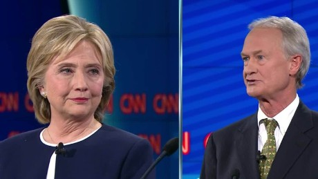 hillary clinton lincoln chafee democratic debate email scandal 21_00002713