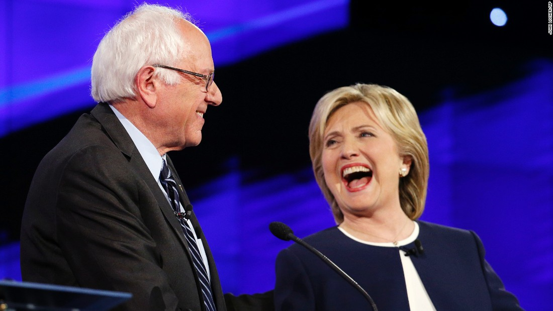 "One of the debate's memorable moments was when Sanders and Clinton shook hands following Sanders' take on the Clinton email scandal. ""Let me say something that may not be great politics, but the secretary is right -- and that is that the American people are sick and tired of hearing about the damn emails,"" Sanders said. ""Enough of the emails, let's talk about the real issues facing the United States of America."""