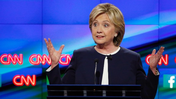 "Clinton is the national front-runner in the Democratic race. ""I would not ask anyone to vote for me based on my last name,"" she said during the debate. ""I"