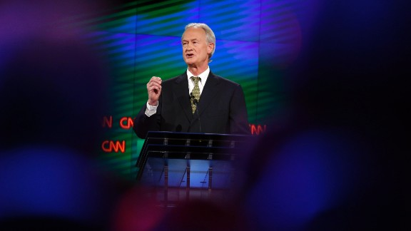 "Chafee touted his experience, saying he is the only candidate who has been a mayor, senator and governor. ""I have had no scandals. I"