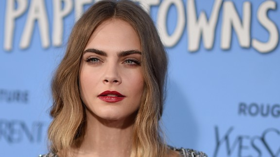 NEW YORK, NY - JULY 21:  Actress Cara Delevingne attends the 'Paper Towns' New York Premiere at AMC Loews Lincoln Square on July 21, 2015 in New York City.  (Photo by Dimitrios Kambouris/Getty Images)