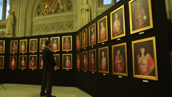 Topless portraits of Anna, Charlene, Rebecca, Margaret and 46 other women are on display at Parliament in the United Kingdom.