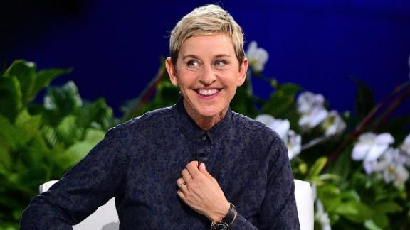 """Ellen Degeneres, host of """"The Ellen Degeneres Show,"""" played varsity tennis in high school in Atlanta, Texas."""