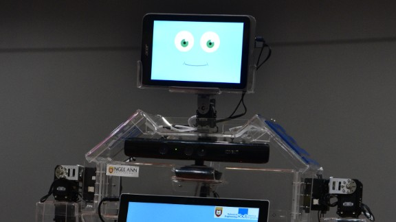 The Robocoach exercise robot is being used in Singapore senior centers.