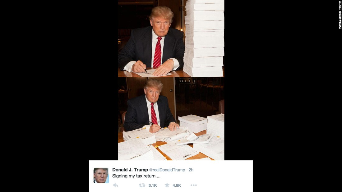 Donald Trump Tweets Photo Of Tax Returns  Cnnpolitics. Mcdonalds Mission Statements. Skills For Administrative Assistant Resume Template. Lpn Objective For Resumes Template. Google Slides Brochure Template. Sample Resume For Hotel Management Job Template. What Is Success Essay Template. Resume Templates Objective Statement Template. How To Write A Financial Aid Appeal Letter