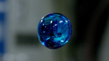 Water bubble floating in space - CNN Video
