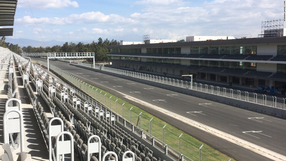 A fresh lick of paint has been added to the starting grid in Mexico. The long run down to Turn One is also deeper with a tighter curve of almost 90 degrees.