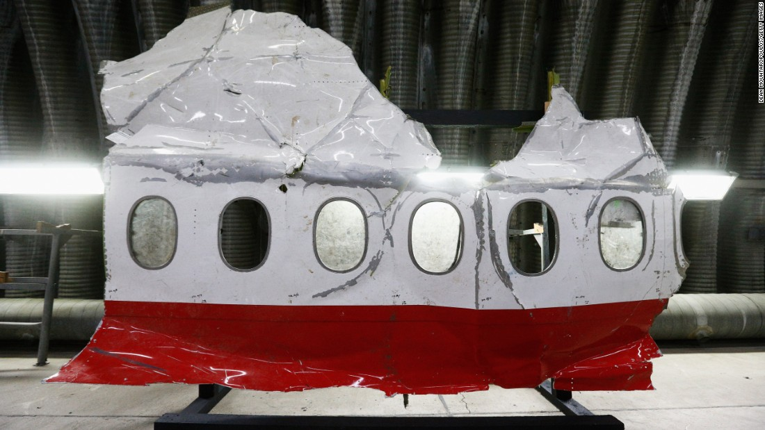 "Wreckage from Malaysia Airlines Flight 17 is displayed in Gilze-Rijen, Netherlands, on Tuesday, October 13. The Boeing 777 was heading from Amsterdam, Netherlands, to Malaysia when it was shot down over Ukrainian territory on July 17, 2014. All 298 people aboard the aircraft died. The Dutch Safety Board, which took the lead in the crash investigation at the request of Ukraine, <a href=""http://www.cnn.com/2015/10/13/europe/mh17-ukraine-dutch-report/"" target=""_blank"">reported Tuesday</a> that the plane crashed after a missile warhead exploded outside the cockpit."