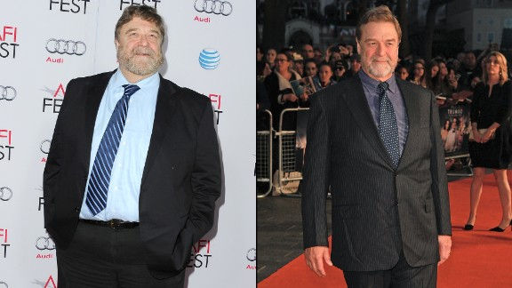 """Roseanne"" star John Goodman is known for his burly frame in addition to his acting chops. Goodman has slimmed down noticeably, as was evident at a screening of ""Trumbo"" in October 2015. The photo on the left was snapped just a year earlier at a showing of ""The Gambler."""