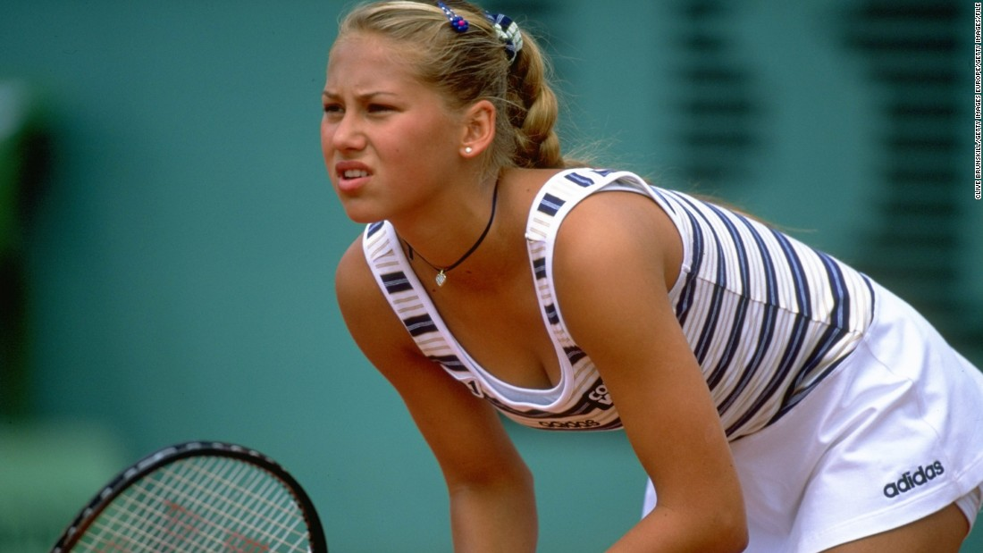 "Kournikova is pictured during the French Open at Roland Garros, Paris.<br />""I think she did a really good job of balancing being a little girl, growing into a woman, and understanding that there was something special about her looks and her charisma, and how to use that for the betterment of the game,"" said Ken Merritt, who also coached Kournikova at Bollettieri's famous <a href=""https://www.imgacademy.com/sports/bollettieri-tennis"" target=""_blank"">Florida Academy.</a><br />""She changed the women's game of tennis. And I think that in itself makes it a very successful tennis career."""