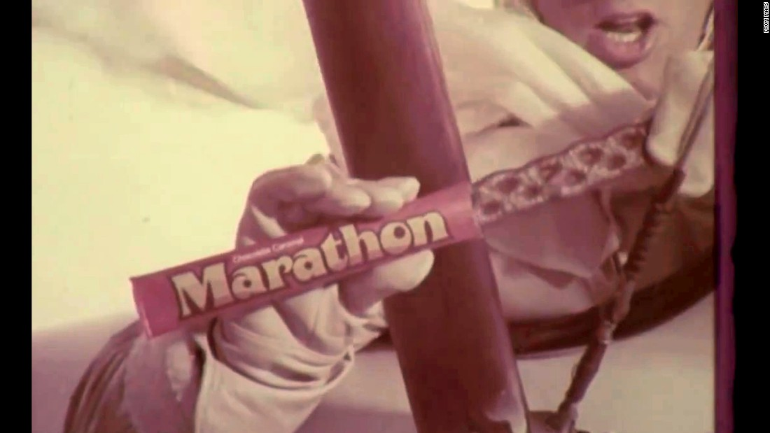 "The Marathon bar took a ""good long time"" to get through -- and no wonder, given that it was 8 inches of chocolate-covered caramel. But despite its ubiquity in the 1970s (and that of commercial spokesman Marathon John, played by Patrick Wayne), it was phased out in the 1980s. Maybe it took too long to eat."