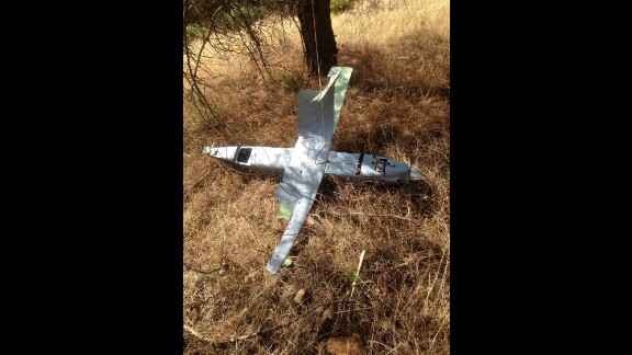 An aircraft is seen after it was downed by Turkish jets.