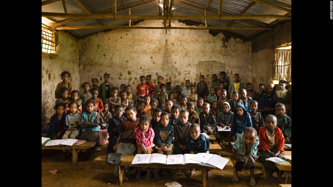 Gambela Elementary School, Gambela, Welisso District, Ethiopia. Grade 1 music class, October 9, 2009.