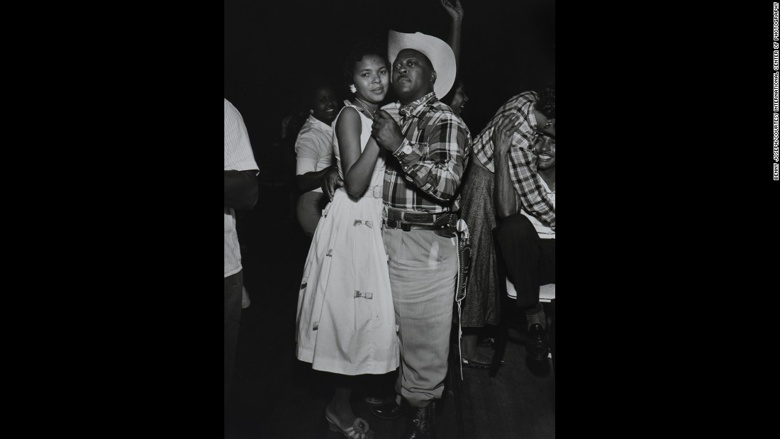 "This photo of a couple dancing was taken at the Eldorado Ballroom in Houston, a black-owned and operated venue featuring live performances of black ""secular"" music: blues, jazz, R&B, and occasionally pop and zydeco. Philanthropists Anna and Clarence Dupree established the ballroom to provide a ""class"" venue for black social clubs and entertainment."
