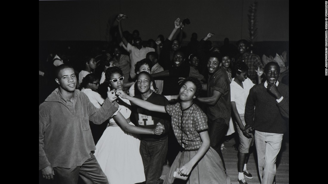 Another photo taken at Houston's Eldorado Ballroom portrays a teen hop, or dance. As the venue of choice for upscale blues and jazz performers, the ballroom was also a symbol of community pride in Houston's Third Ward.