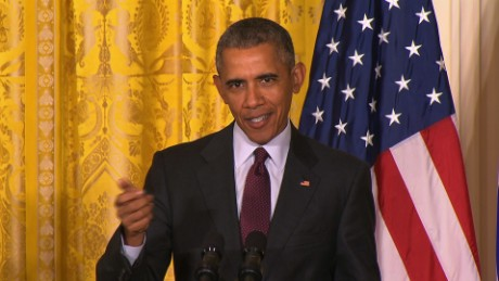 President Obama ducks Biden question, praises Dems