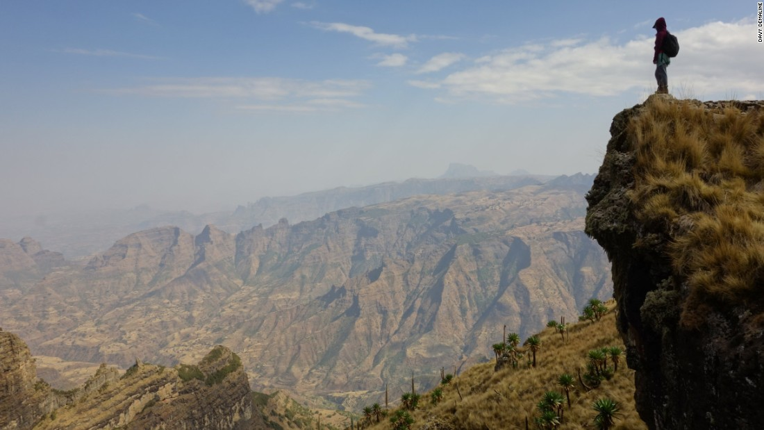 Simien Mountain National Park boasts Ethiopia's highest mountain peak: the 14,700-foot-tall Ras Dashen. A trek not for the faint-hearted.