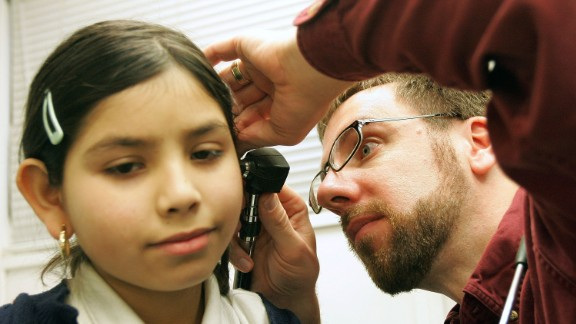 """Ear infections can be caused by viruses or bacteria, and <a href=""""http://www.cnn.com/2014/05/21/health/antibiotics-virus-bacteria/"""">they shouldn't always be treated with antibiotics</a>. In fact, one study found that <a href=""""http://www.cnn.com/2010/HEALTH/11/16/antibiotics.ear.infections/"""">antibiotics do little to speed recovery</a> while increasing risk of other side effects."""