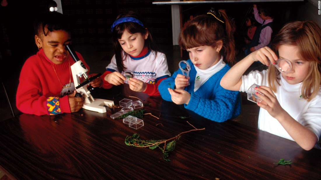 <strong>2000s</strong>: Girl Scouts who participate in Girl Scout STEM programs show more interest in studying STEM subjects, according to a survey by the Scouts, and most will recommend the Girl Scout STEM program to their friends.