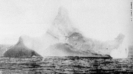 U.S. Coast Guard file photo of iceberg believed to have sunk the Titanic