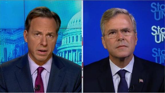 SOTU Tapper: Jeb Bush slams Trump for 9/11 remarks_00015313.jpg