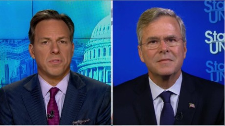 SOTU Tapper: Jeb Bush: Don't give Trump U.S. nuclear codes_00022601.jpg