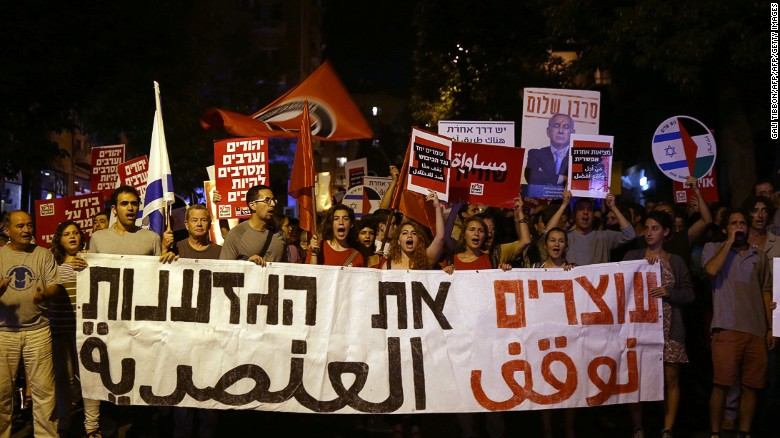 Israelis and Palestinians march for peace