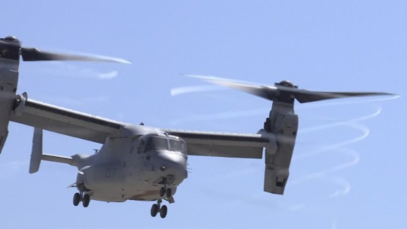 A MV-22 Osprey aircraft