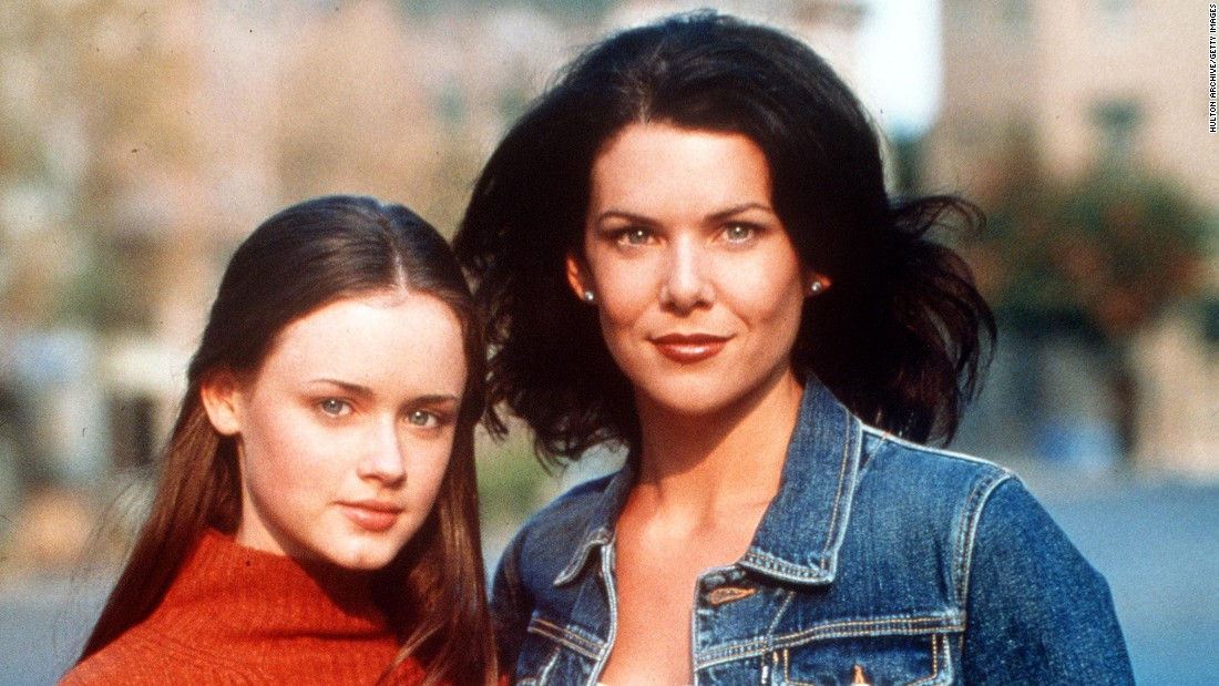 """The Gilmore Girls"" : Behind mom's excellent home cooking is mom. Single mother Lorelai Gilmore and daughter Rory cane always be counted on for some tasty drama."