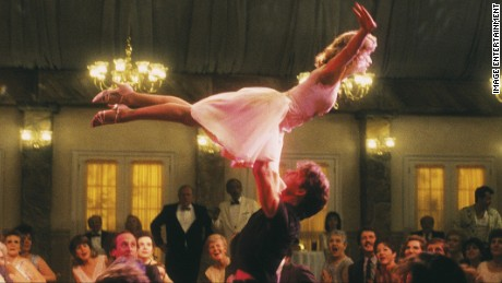The late Patrick Swayze's famous lift with Jennifer Grey.