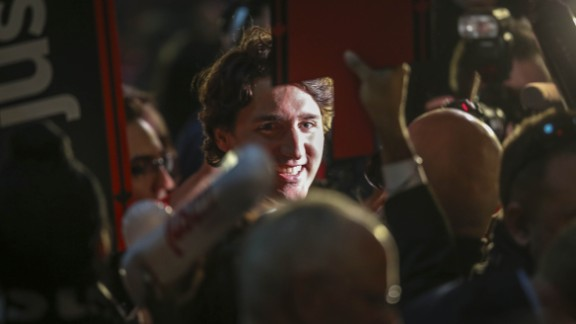 Trudeau greets supporters at the Metro Toronto Convention Centre in April 2013. A short time later, he was elected leader of Canada