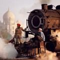 steve mccurry india train