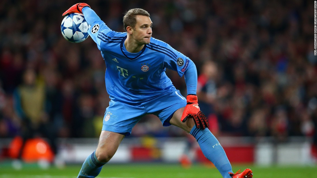 Manuel Neuer eased to the No.1 spot with the Bayern Munich goalkeeper collecting more votes than all his rivals put together. The Germany international is regarded the best in the world and finished took his place between the sticks ahead of Thibaut Courtois and Petr Cech.