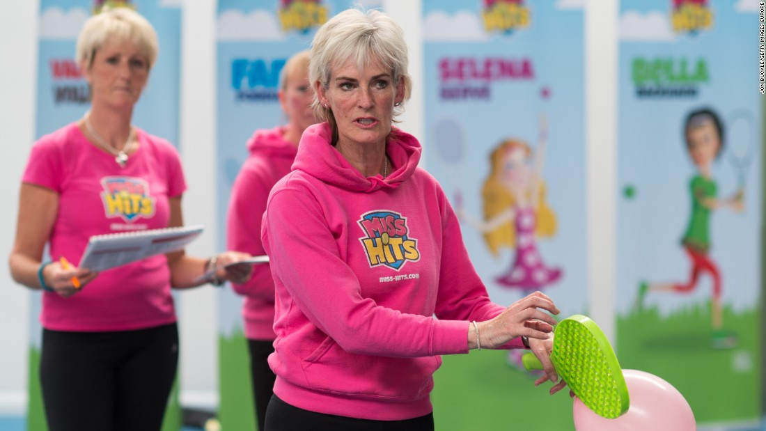 "Judy has a long association with the game and still travels up and down the country promoting tennis to youngsters. Her Miss Hits program encourages girls aged between five and eight to play the game. It says its mission is to make tennis ""more girly, colorful and fun."""