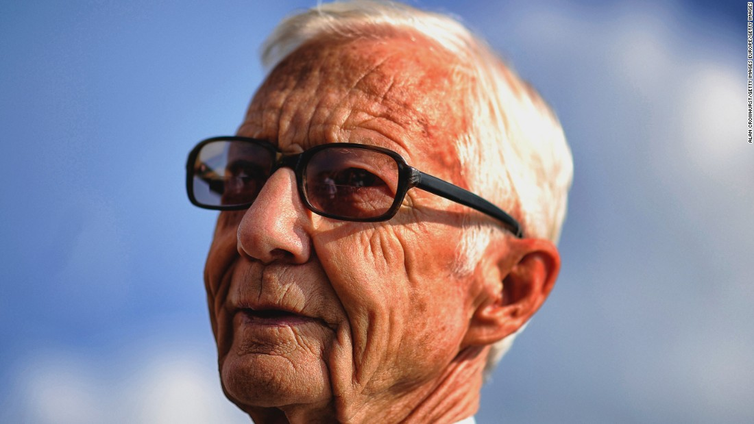 Racing great Lester Piggott poses at Doncaster racecourse in September 2014. Tthe world's oldest Classic race -- the St. Leger -- is run at Doncaster, with the course on Town Moor dating back to 1776.